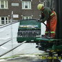 Inserting Geothermal Pipe Into Vertical Borehole