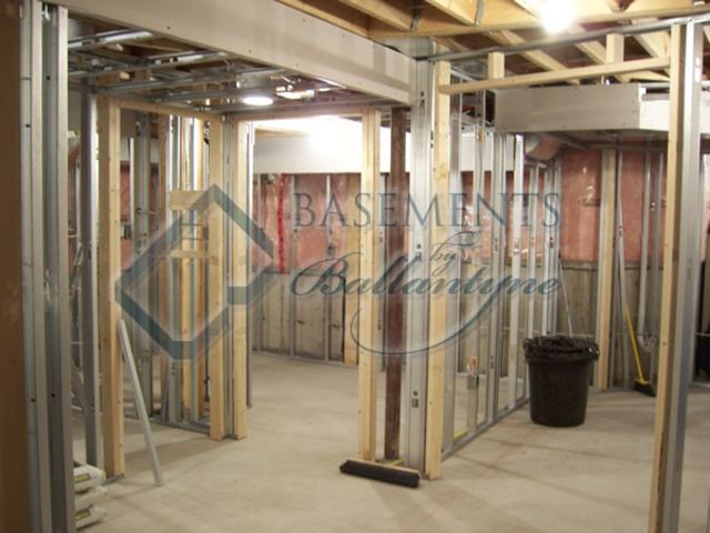 basement framing with steel stud review
