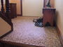 Pet friendly flooring replaced existing carpets.  Texas Rainbow colored stone pour filled with clear epoxy