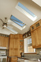Kitchen, Cathedral ceiling w/skylights.