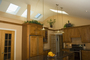Kitchen.  Cathedral ceiling w/skylights.