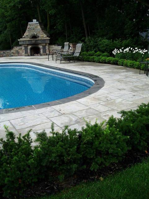 Interlocking around a pool for Pool design richmond va