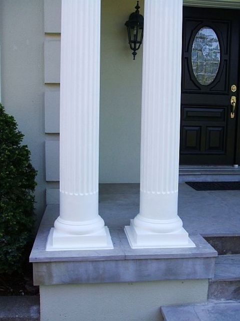 Round Fiberglass Column Replacement