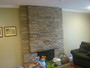 Before - fireplace wall