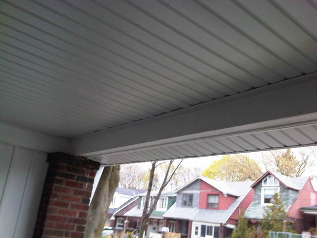 photo of New Eaves, Leaf Guard, Downspouts & Soffit from a Westwood Aluminum review