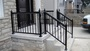 Fine black aluminum railing installation