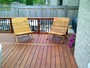 cedar deck with patio