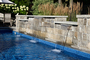 24 foot 3 tier water feature wall