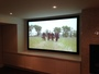 Home Theater Screen with Custom Cabinetry by Us !!