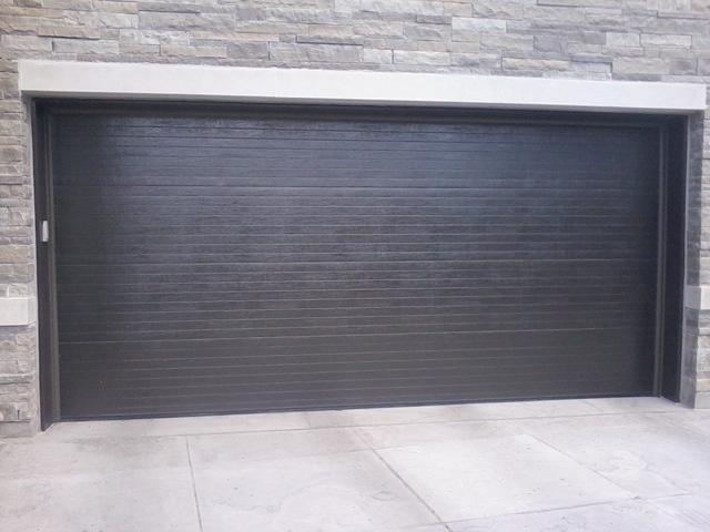 Haas Door Model 612 V Ribbed Custom Painted Graphite Grey Jpg