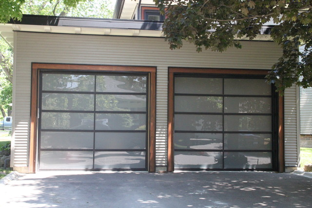 Haas Full View Aluminum Doors With Froasted Windows