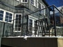 photo of Iron and Glass railing for back deck from a Art Metal Workshop Inc. review