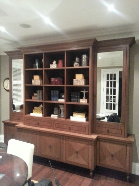 photo of Custom Office: Desk, Credenza, & Breakfront. from a Copacetic Woodwork & Design review