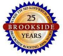 Brookside Roofing's logo