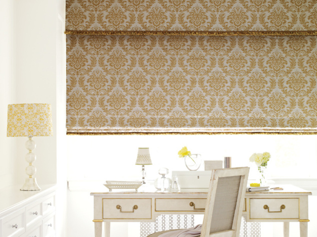 Model space designs drapery curtains in toronto for Fabric window blinds designs