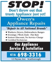 Owen's Home Appliance Repair's logo