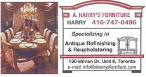 A. HARRY'S FURNITURE REFINISHERS INC.'s logo