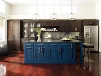 Maple Contemporary Kitchen with Great Island