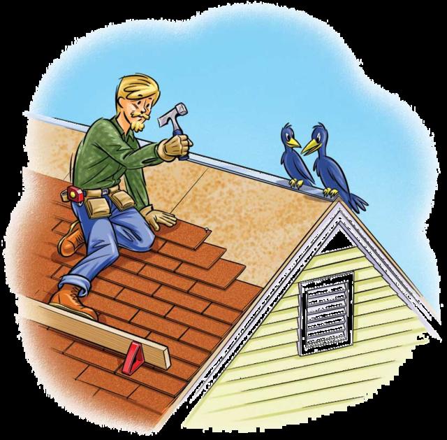 Cartoon Roofing Installation : Sensational roofing repairs in holly springs