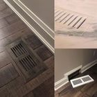 Flush mount vents, perfect for bathroom & kitchen tile floors.  Photo courtesy of; Heartwood Renovations