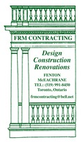 FRM Contracting's logo