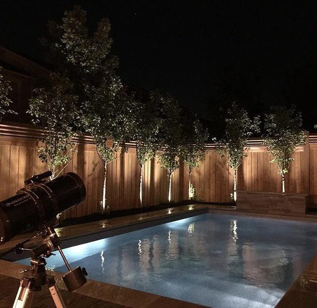 inground pools at night.  Night Job Price Throughout Inground Pools At Night