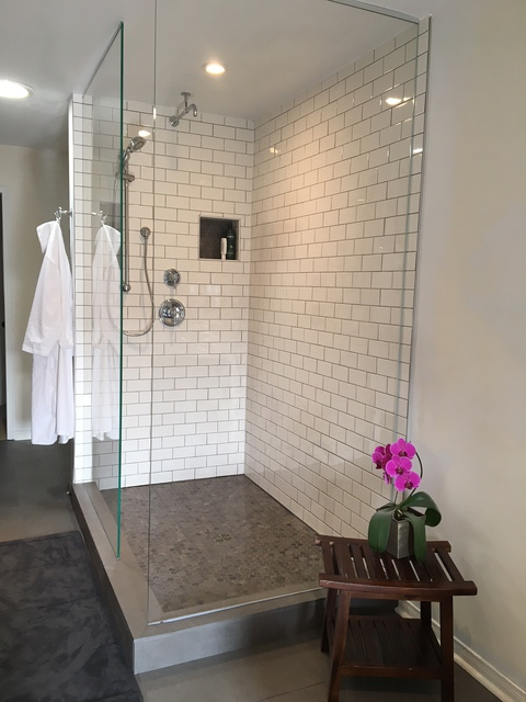 glass door doors frameless chicago area shower installation custom