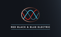 Red Black & Blue Electric's logo