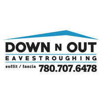 Down N Out Eavestroughing's logo