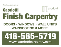 Capriotti Finish Carpentry's logo