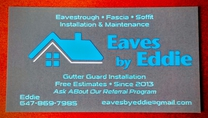 Eaves by Eddie's logo