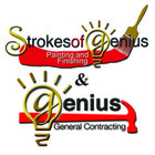 Strokes of Genius Painting and Genius GC's logo