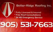 Better-Ridge Roofing Inc.'s logo