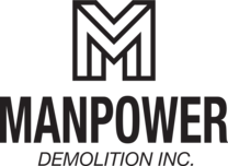 Man Power Demolition's logo