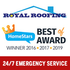 Royal Roofing's logo